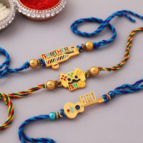 Quirky Music And Game Rakhi (Set of 3)