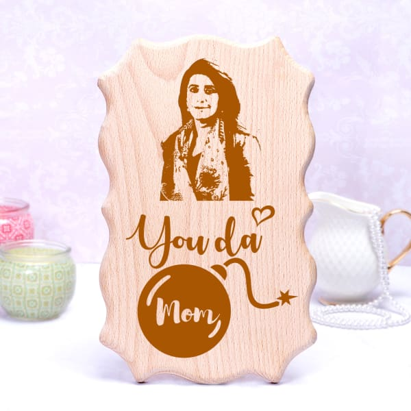 Quirky Personalized Wooden Photo Frame for Mom