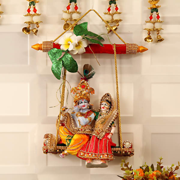Radha Krishna on Jhula: Gift/Send Home and Living Gifts Online
