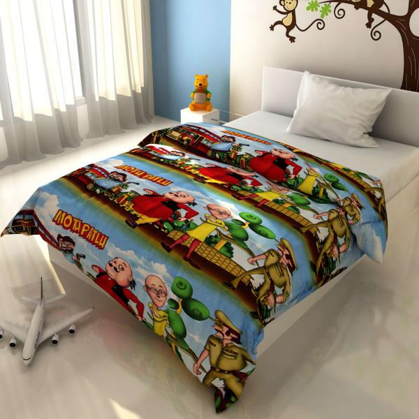 Radiant Cartoon Print Kids Blanket