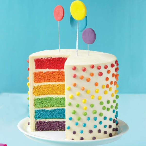Rainbow Cake 1 5 Kg Order Cakes Online Hd1046884 Igp Com
