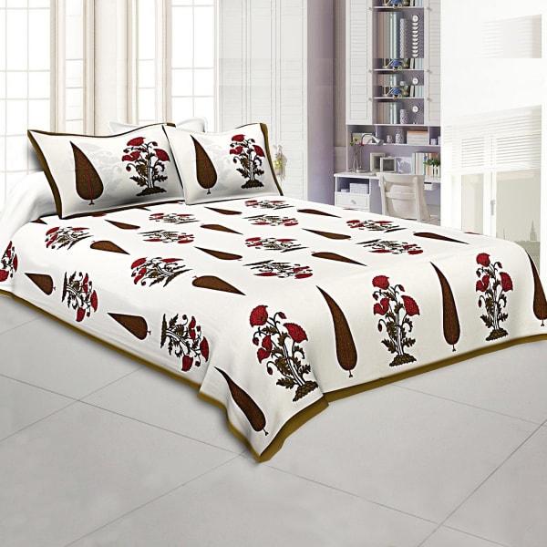 Rajasthani Block Print Bed Sheet Set
