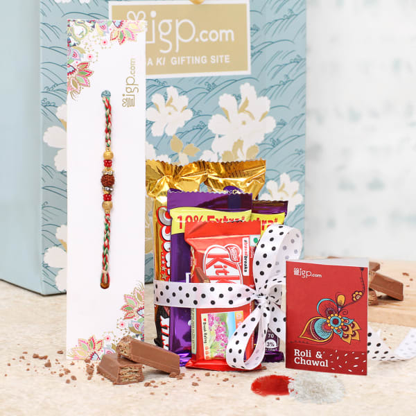 Rakhi Hamper with Chocolates