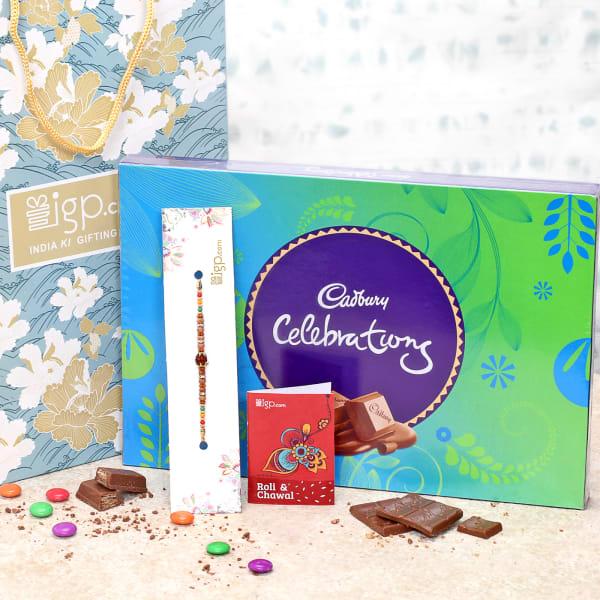 Rakhi with Celebration Chocolate Box