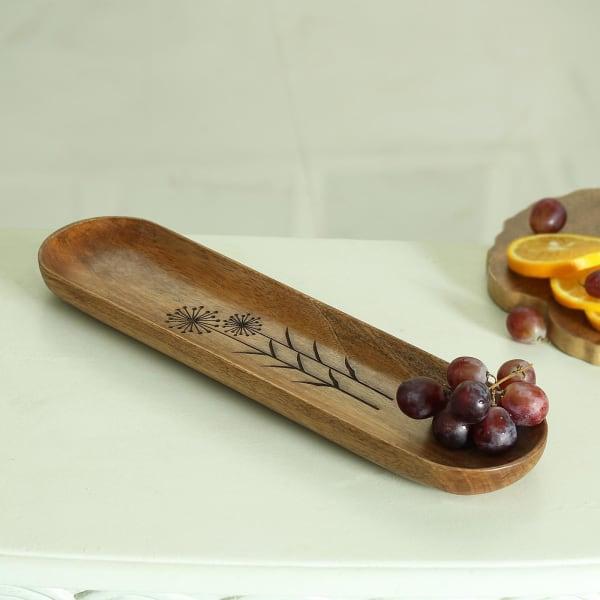 Rectangular Designer Wooden Platter