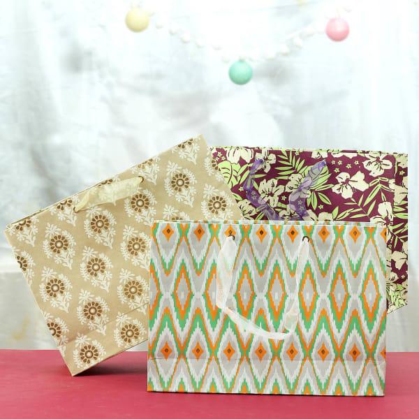 Rectangular Shaped Paper Gift Bags (Set of 3)