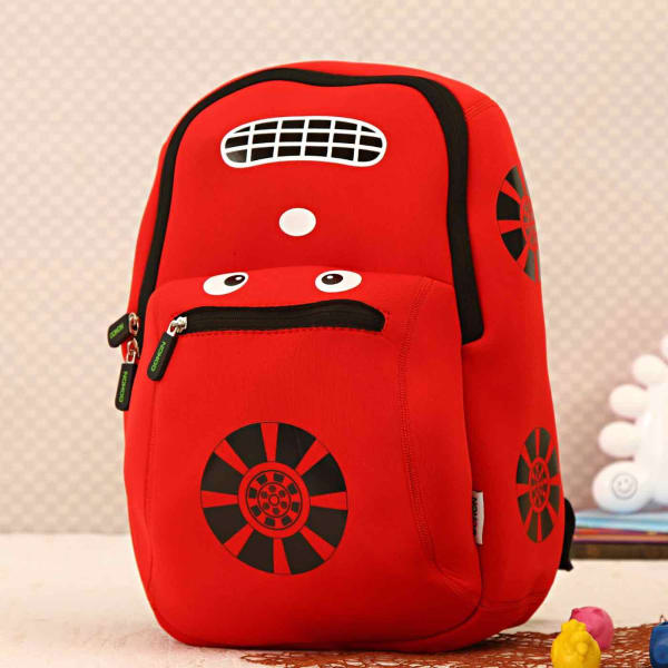 56ee8a0a5f Red Car Shaped Soft School Bag for Kids  Gift Send Home and Living ...