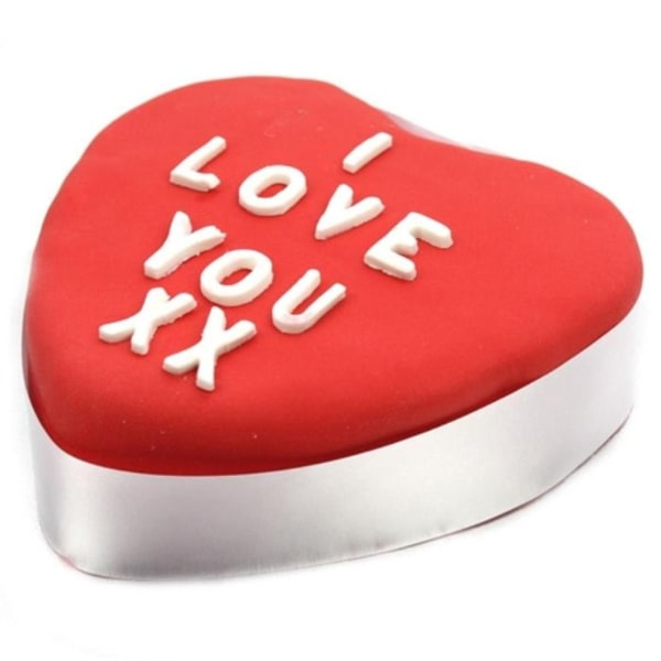 Red Heart 10 inches Cake