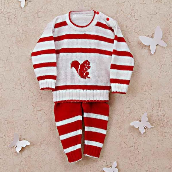 e365cdcf241 Red   White Woolen Baby Boy Suit  Gift Send Fashion and Lifestyle ...