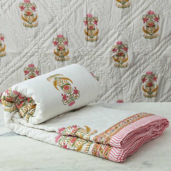 Reversible Cotton Double Bed Quilt