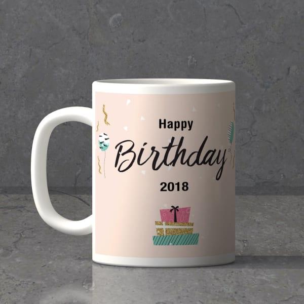 Ribbons Balloons Personalized Birthday Mug
