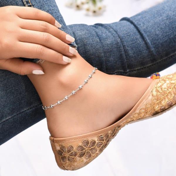 Rising Star Oxidised Anklet