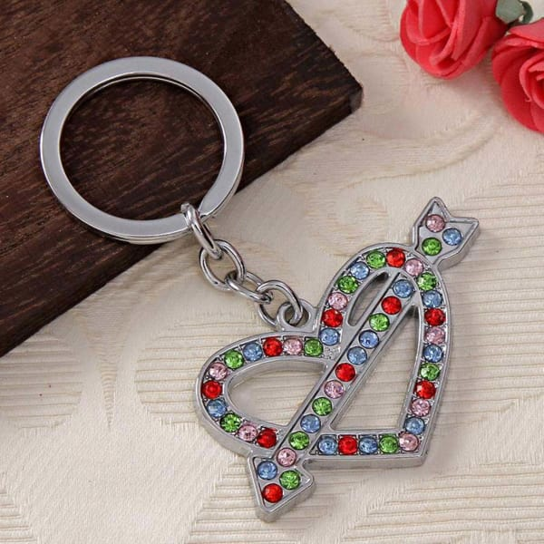 Romantic Heart Shaped Keychain