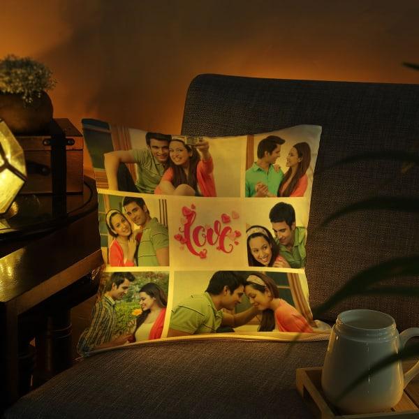 Romantic Personalized LED Cushion