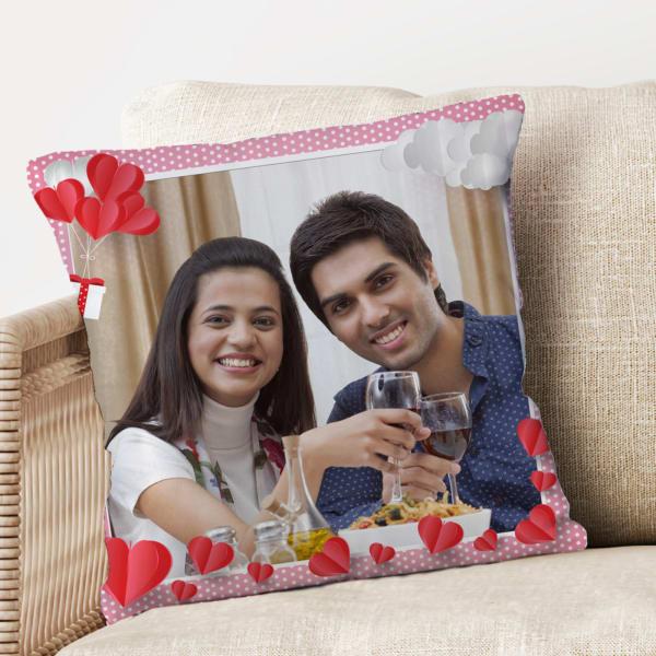 Romantic Personalized Photo Cushion