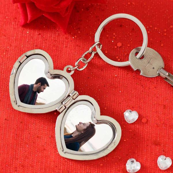 Romantic Personalized Photo Keychain