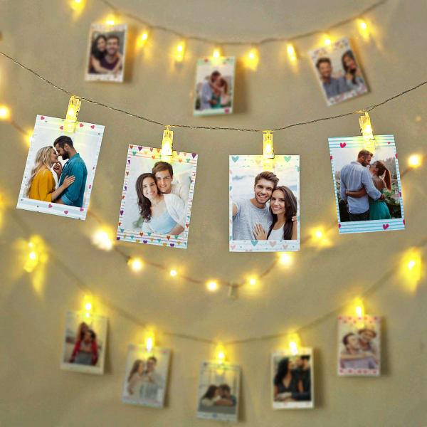 Romantic Personalized Photo LED Wall Decor
