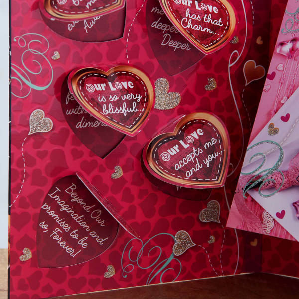 romantic quotes greeting card with love you chocolate