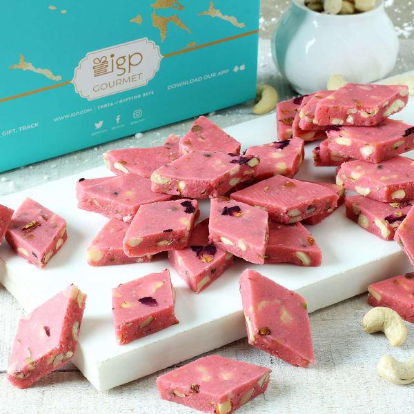 Rose Flavor Dry Fruit Katli (500 Gm)