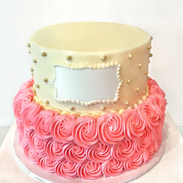 Magnificent Order Rosette Semi Fondant Cake 3 Kg Online At Best Price Free Funny Birthday Cards Online Sheoxdamsfinfo