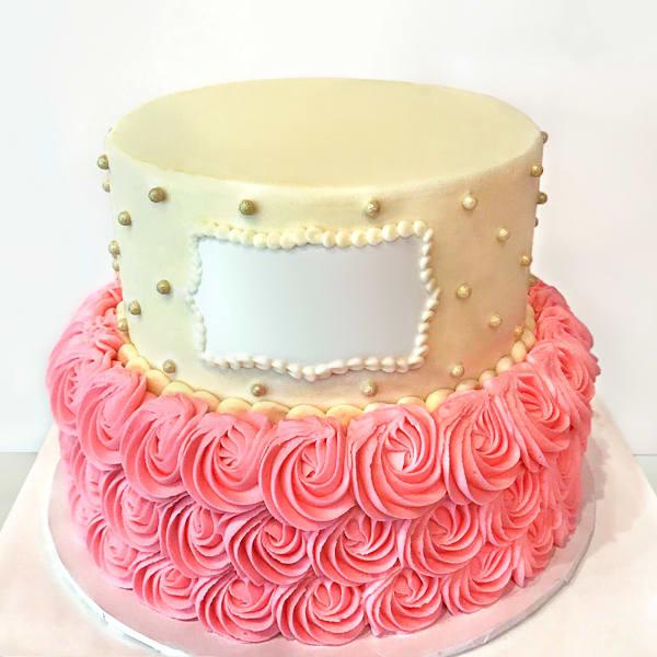 Rosette Semi Fondant Cake (Eggless) (4 Kg)