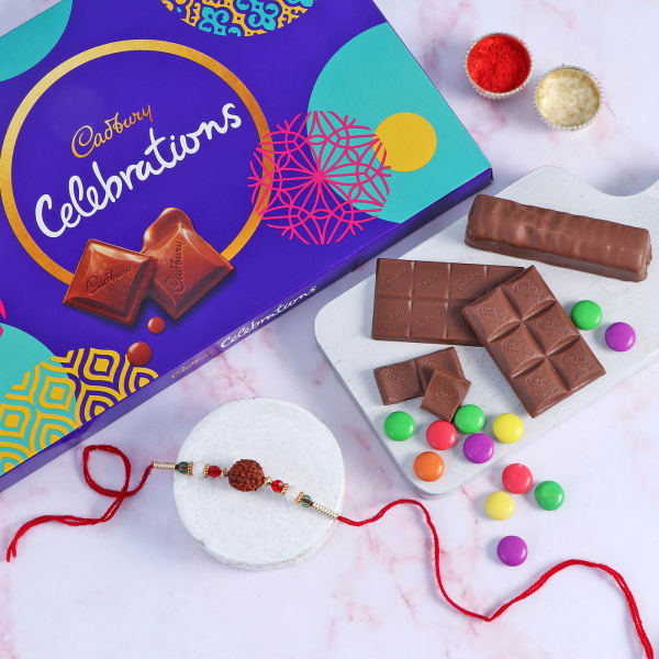 Rudraksh Rakhi With Assorted Chocolates