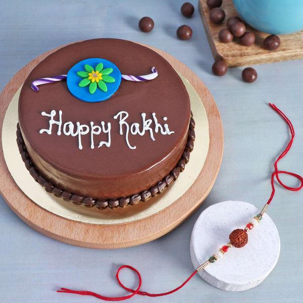 Rudraksh Rakhi With Chocolate Cake (Half kg)