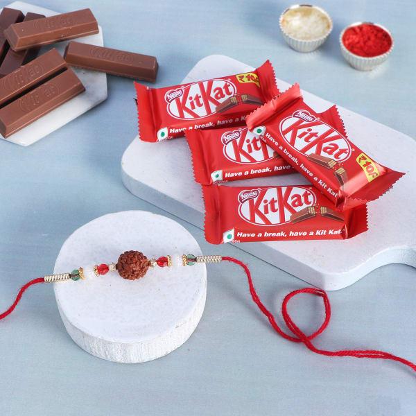 Rudraksh Rakhi With Wafer Chocolates