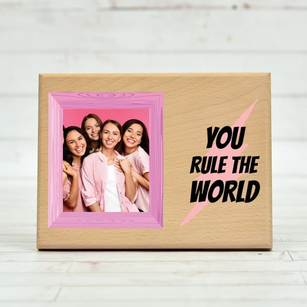 Rule The World Personalized Wooden Photo Frame