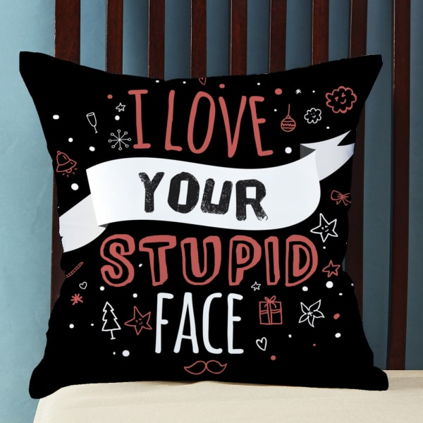 Satin Pillow with Sassy Quote