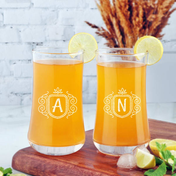 Set of 2 Personalized Juice Glasses