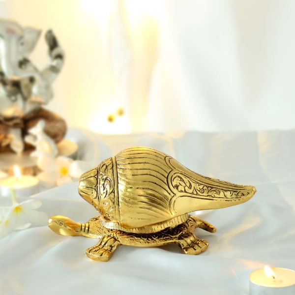 Shankh with Tortoise Stand