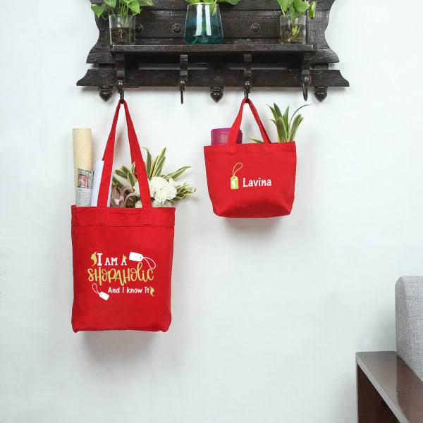 Shopaholic Eco-Friendly Canvas Shopping Bag Combo