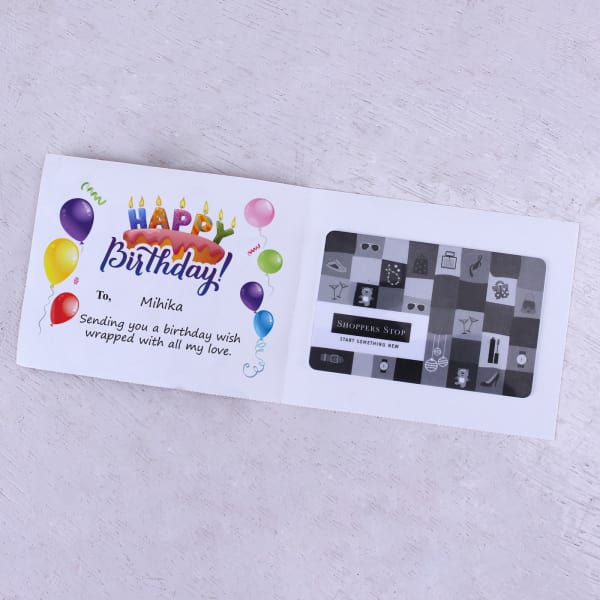 Shoppers Stop Personalized Birthday Gift Card 1000