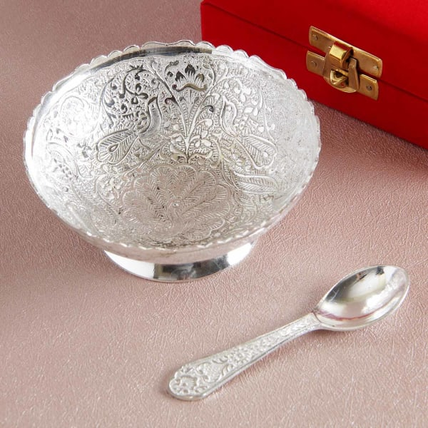 Silver Plated Bowl and Spoon