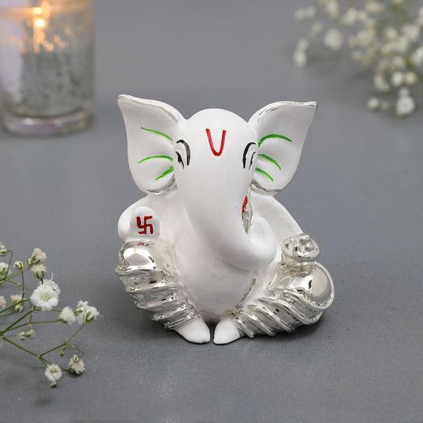 Silver Plated Ganesha Idol