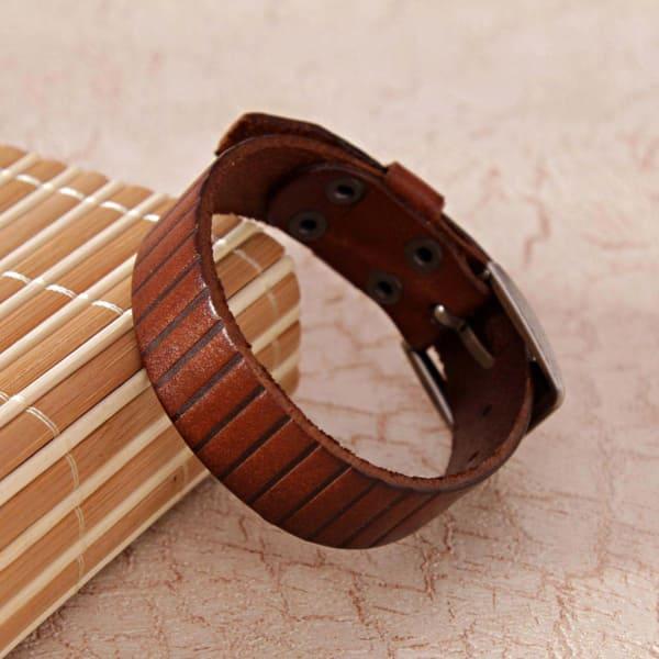 Simple Brown Wrist Band