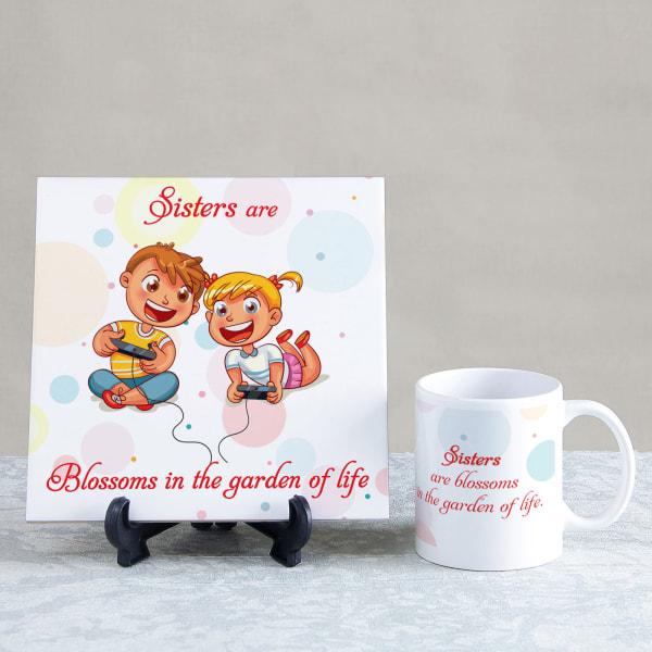 Sisters are Blossoms Tile and Mug