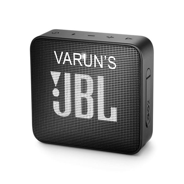 Sleek Personalized Black Bluetooth Speaker