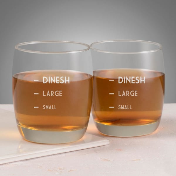 Small - Large Personalized Whisky Glasses (Set of 2)