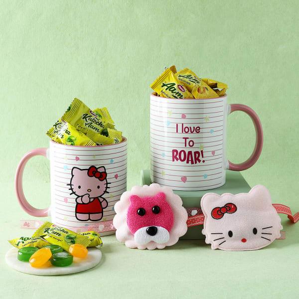 Soft Kids Rakhi Set With Mugs And Candies