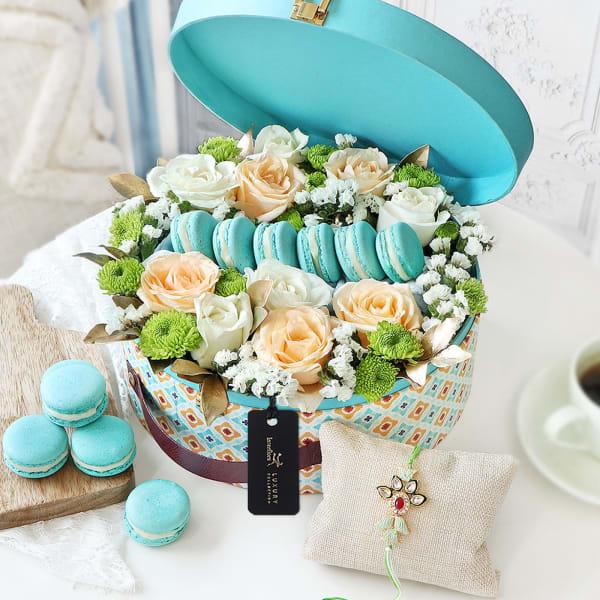 Soothe Your Senses Floral Rakhi Gift Box