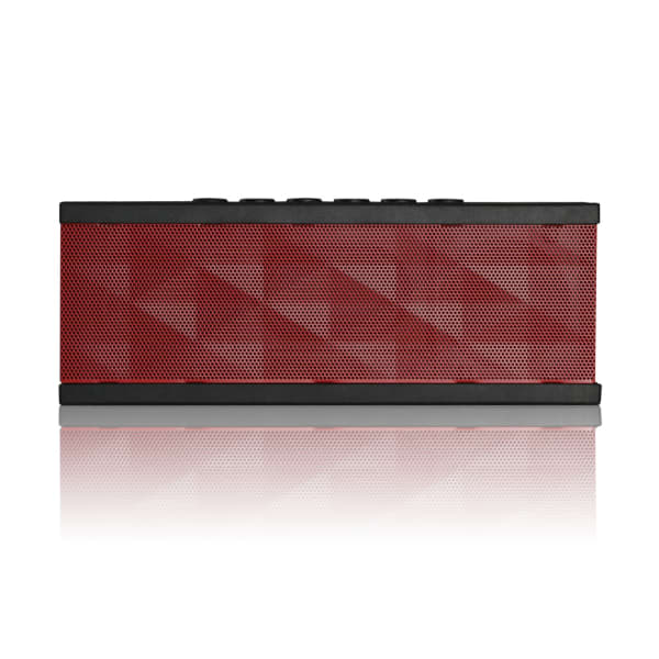 SoundBot SB571 12W Bluetooth Wireless Speaker with HD Bass (Black/Red)