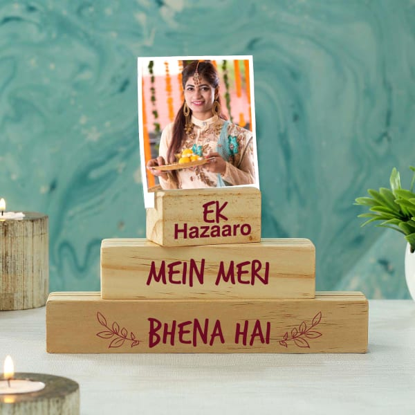 Special Sister Personalized Wooden Block Photo Stand