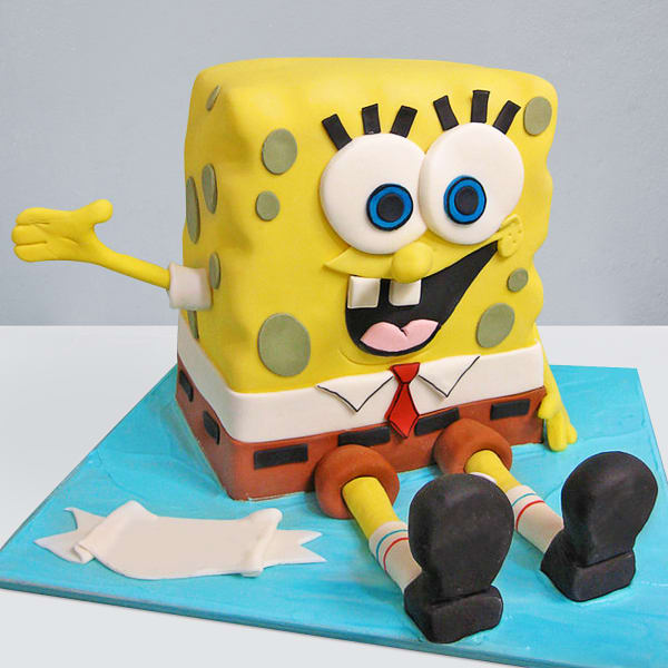 Spongebob Fondant Cake (4 Kg)