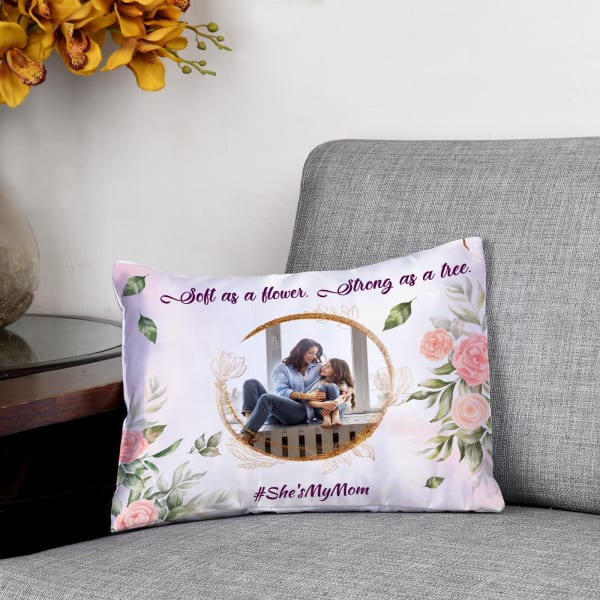 Squishy Satin Personalized Cushion For Moms