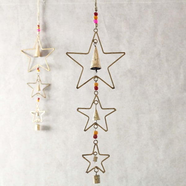 Star & Bell Shaped Metal Wind Chime