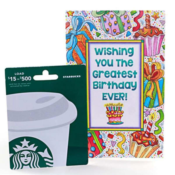 Starbucks 25 Gift Card With Birthday Greeting
