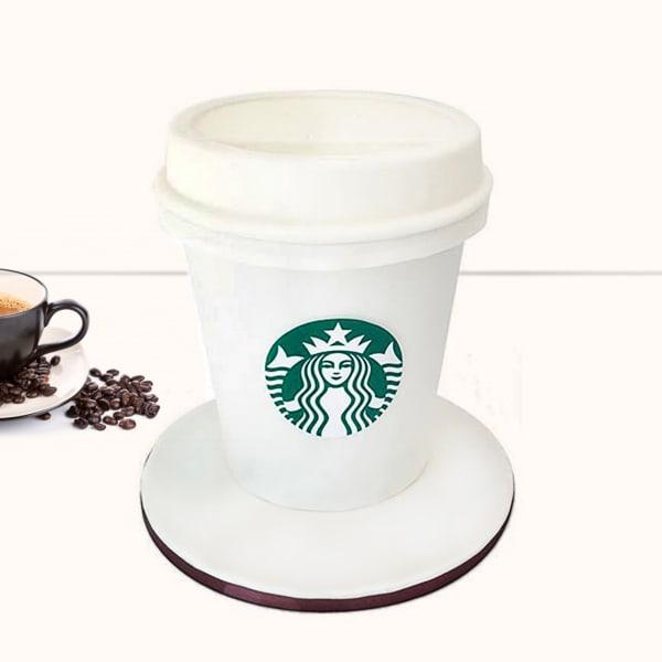 Starbucks Coffee Cup Fondant Cake (2.5 Kg)