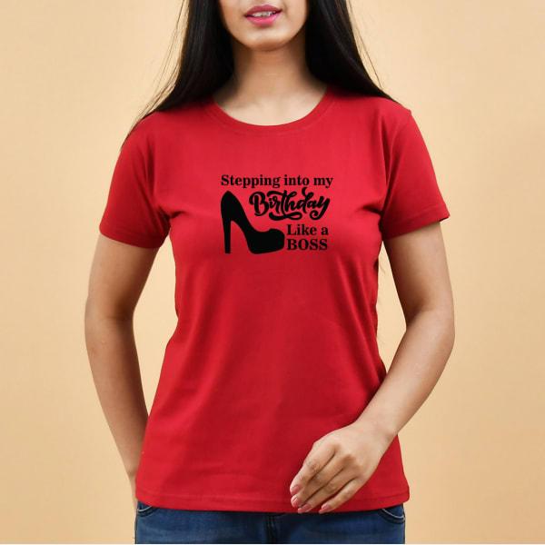 Stepping Into My Birthday Women's T-Shirt